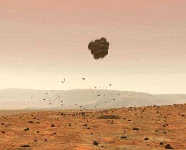 JAN. 4, 2004:  Spirit Rover landed on Mars.