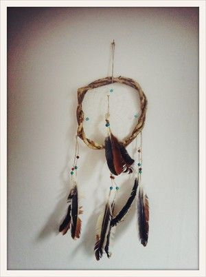 Aqua Pearl Hand made South American dream catcher. Keeps the bad dreams at the door.