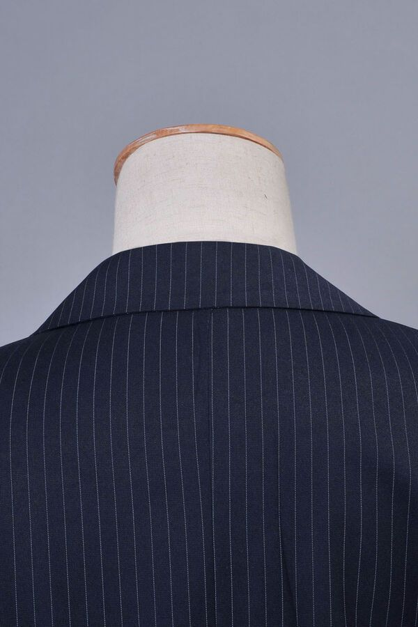 Who is Doctor Dr Blue Pinstripe Business Suit Blazer+Pants Set Cosplay Costume