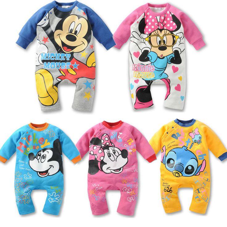 Moda cartoon Śpioszki dla niemowląt 100% Bawełna newborn baby dziewczyny Odzież zestaw Minnie Mickey Kombinezon Baby Boy baby Girl ubrania
