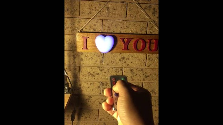 I LOVE YOU Wood Sign - YouTube