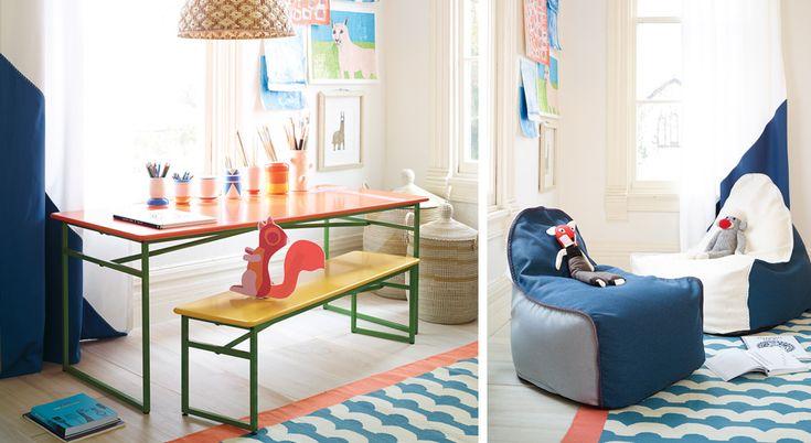 salle de jeux pour enfants meubles d coration id es de d coration serena lily playroom. Black Bedroom Furniture Sets. Home Design Ideas