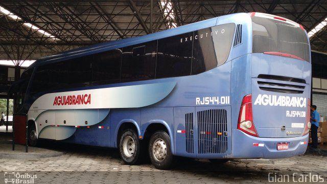 Ônibus da empresa Viação Águia Branca, carro RJ 544.011, carroceria Marcopolo Paradiso G7 1200, chassi Mercedes-Benz O-500RSD. Foto na cidade de Vitória-ES por Gian Carlos, publicada em 25/07/2016 00:50:01.