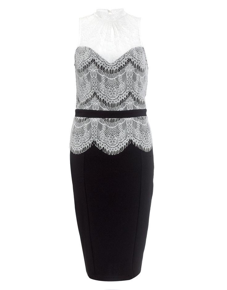 Kardashian Lace Top Peplum Dress