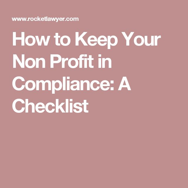 How to Keep Your Non Profit in Compliance: A Checklist