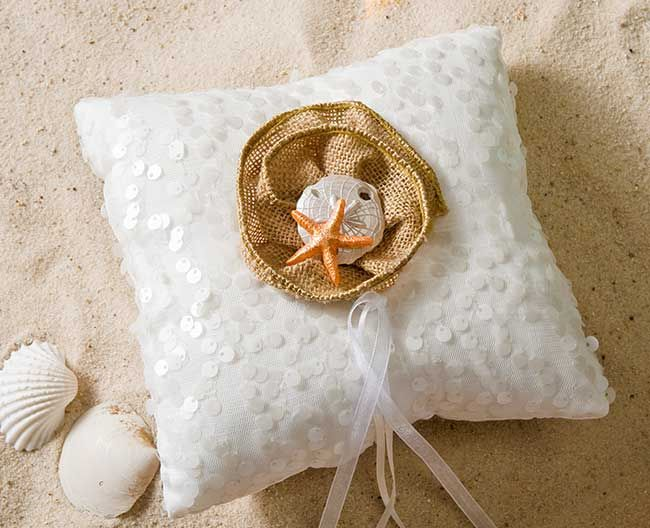 DIY Nautical Wedding Ring Bearer Pillow