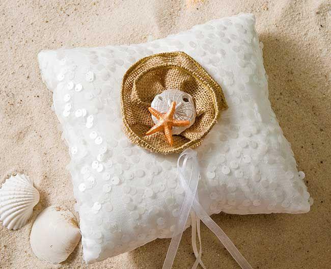 DIY Nautical Wedding Ring Bearer Pillow