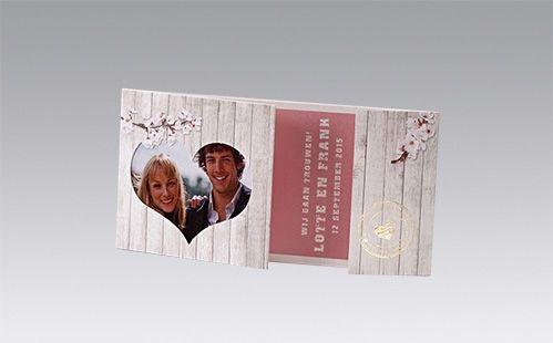 Originele trouwkaarten bloesem met foto | Timeless Gifts