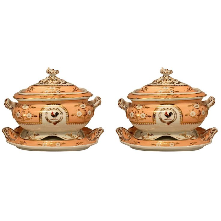 Pair Of Worcester Soup Tureens