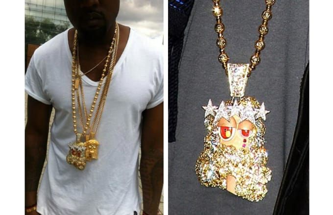 Kanye West S Murakami Jesus Piece Made By Takashi Murakami First Seen 2008 Estimated Value 75 000 By House Of A D Chain Big Gold Chains Hip Hop