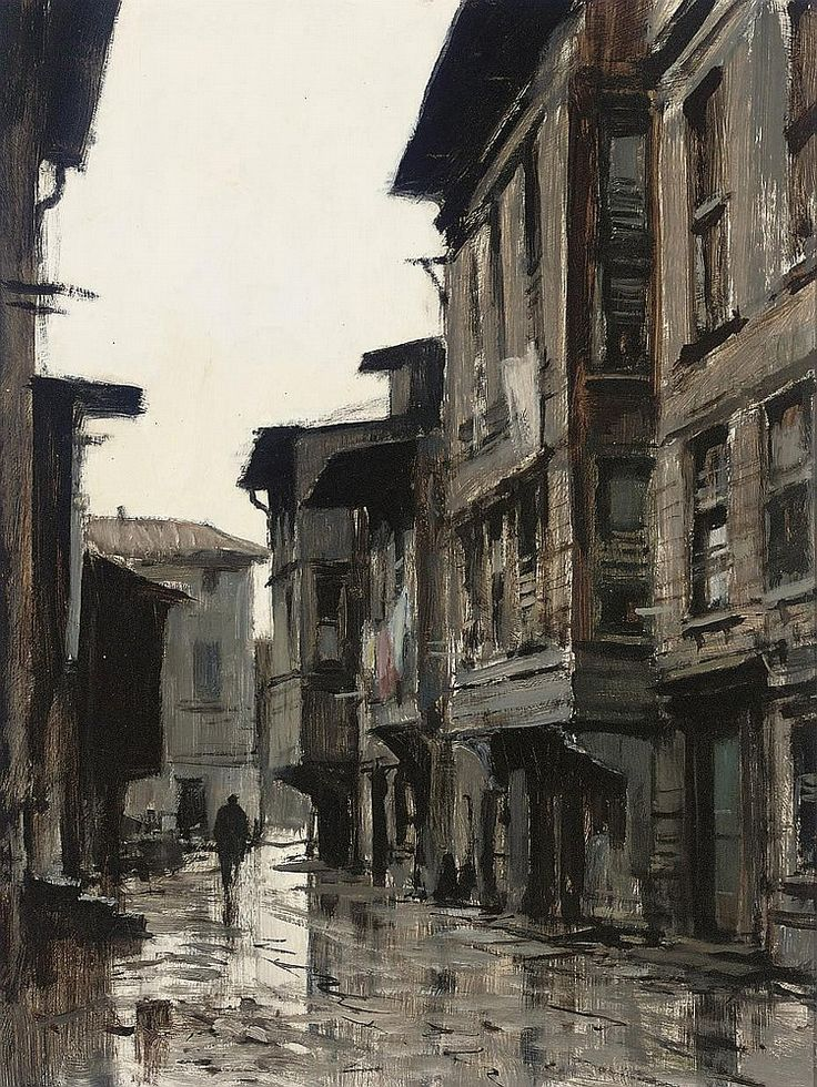 A rainy day in Istanbul, Edward Seago. English (1910 - 1974)