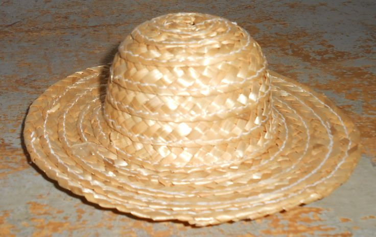 Straw Hats, Miniature, Doll Hats, Craft Supplies, Sun Bonnet, Small Hats, Country Hat, Set Of Three by TheBackShak on Etsy