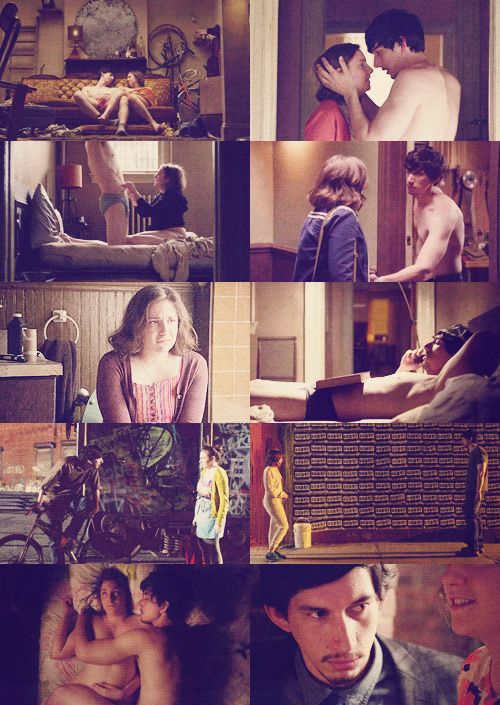 Hannah and Adam - Girls (HBO)One cap per episode - season 1.  If you re-pin this....I'll know you are one of my people ; )