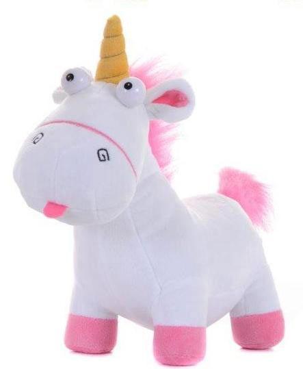 Peluche Unicornio 25 cm. Gru, Mi Villano Favorito Estupendo peluche de 25 cm perteneciente a la película de animación de Gru: Mi Villano Favorito, con el Unicornio de la pequeña Agnes.