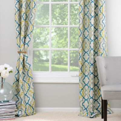 Marrakech Blue And Green Curtain Panel Set 84 In Green