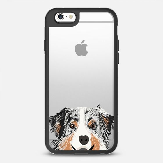 Australian Shepherd cute blue merle coat color cell phone case transparent iphone6 dog lovers pet portraits - New Standard Case.