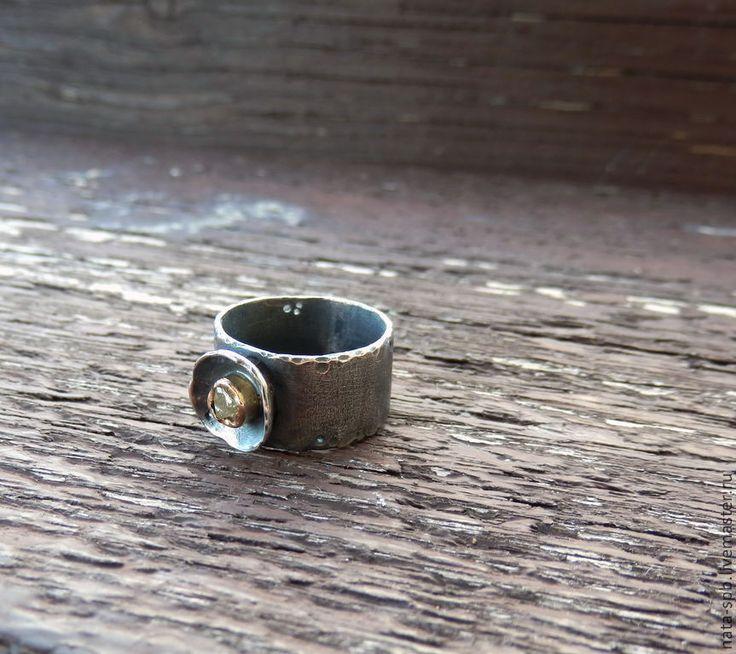 BABY кольцо (алмаз, серебро 925, золото 585) - кольцо с алмазом,необработанный алмаз