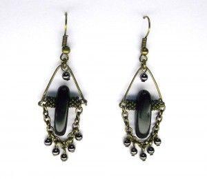 Onyx & Hematite Chandelier Earrings