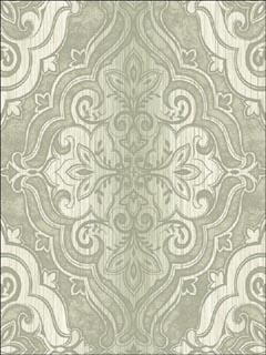 gray faded damask wallpaper