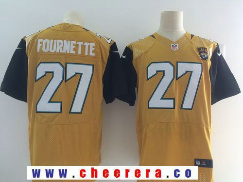 buy popular b08d7 4883e Men's Jacksonville Jaguars #27 Leonard Fournette Gold Color ...