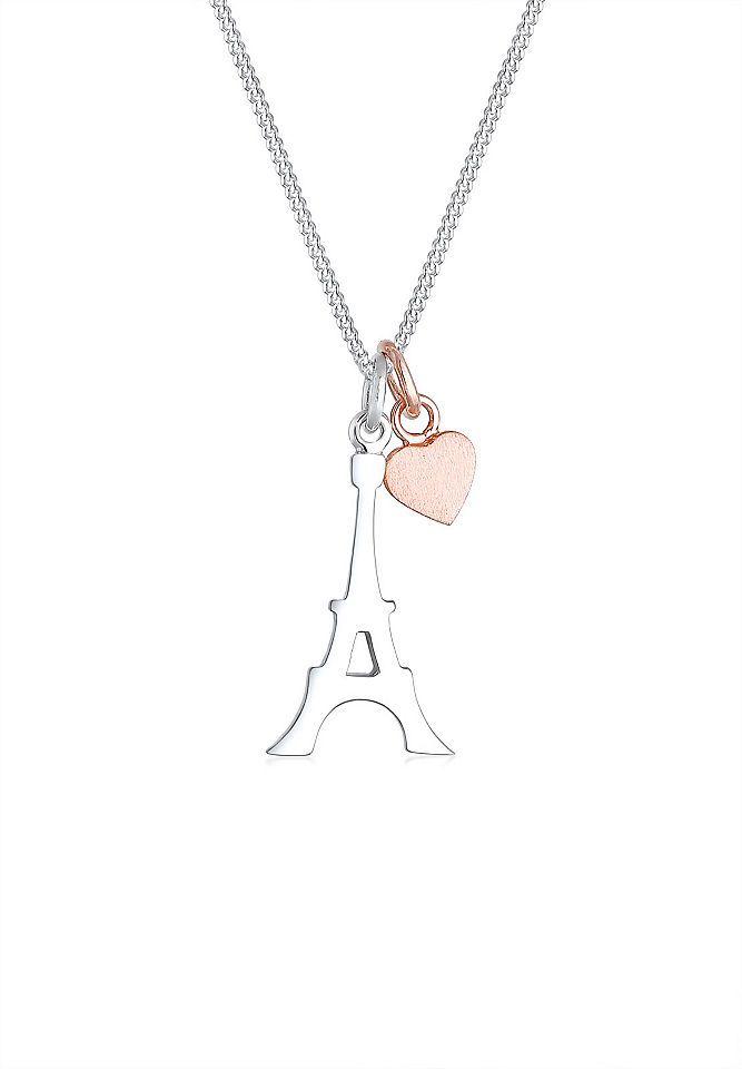 Elli Halskette »Eiffelturm Herz Matt 925 Sterling Silber Juli« Jetzt bestellen unter: https://mode.ladendirekt.de/damen/schmuck/halsketten/silberketten/?uid=92991a7e-2036-5a5f-9a29-7267b49637d7&utm_source=pinterest&utm_medium=pin&utm_campaign=boards #schmuck #halsschmuck #halsketten #silberketten