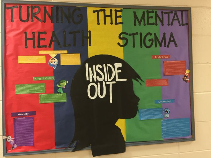 Turning the mental health stigma inside out bulletin board