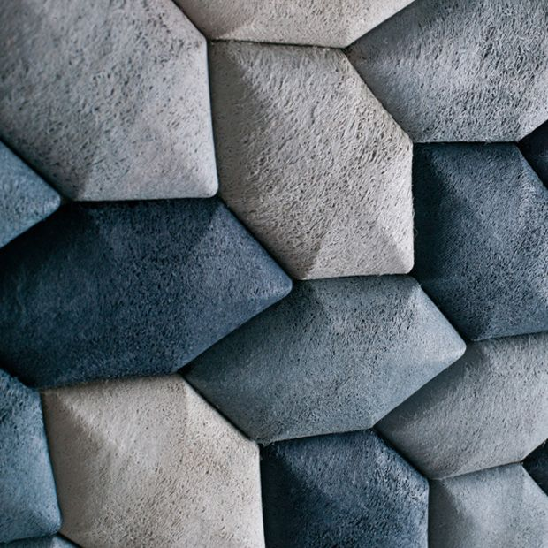 The Luffa splints are strong, light weight, breathable and completely biodegradable - wall tiles by Mauricio Affonso