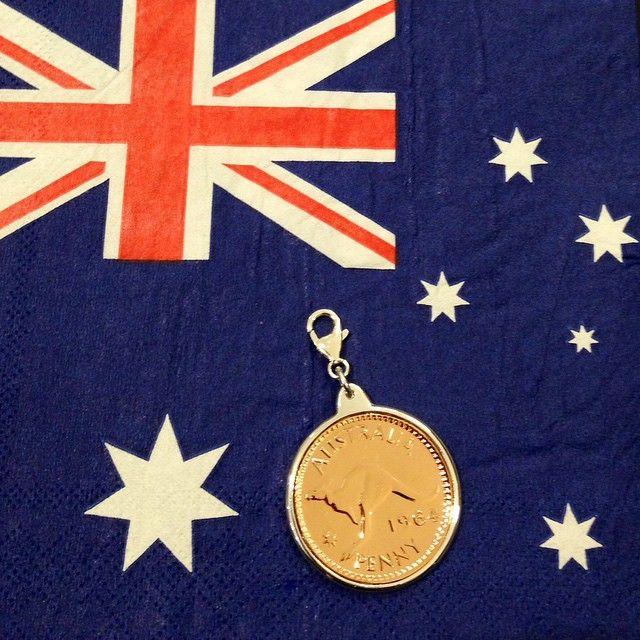 """""""Celebrate Australia Day with this Von Treskow authentic penny coin @vontreskow #australia #australiaday www.silverwolfjewellery.com.au"""""""