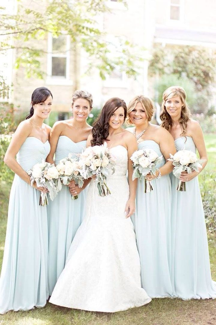 17 Best ideas about Light Blue Bridesmaids on Pinterest | Light ...