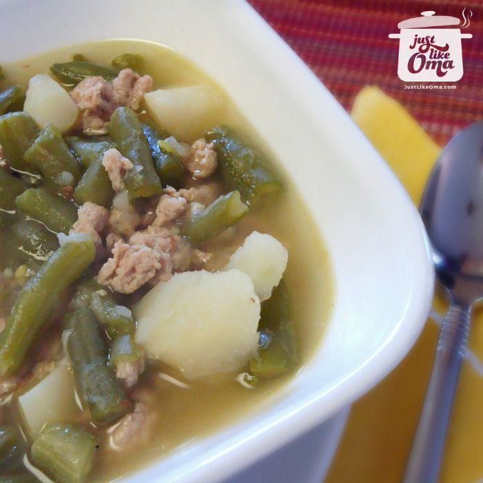 Oma's green bean soup is so super easy and quick. A very traditional German soup that uses a basic method to make so many different types of soups.