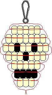 Skull Pony Bead Pattern or seed bead