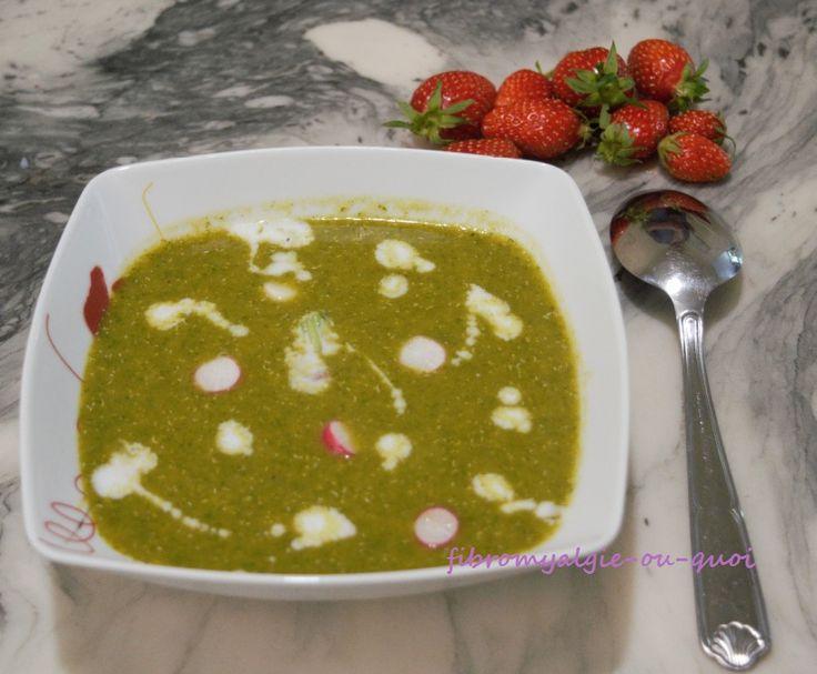Velouté de fanes de radis au quinoa et lentilles corail