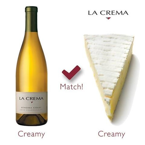 Photo: Wine and cheese pairing tip: Find wine and cheese pairings with similar textural qualities. For example, Chardonnay with a Triple Crème Brie.