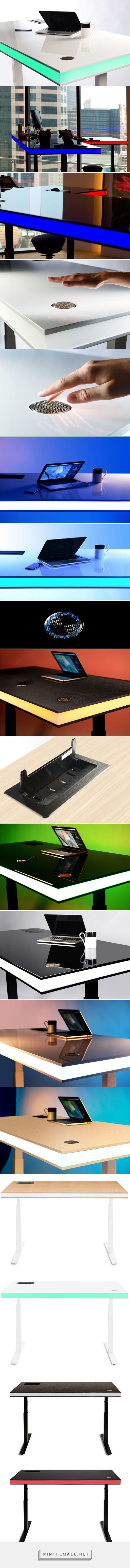table air utilizes integrated smart sensor to alter desk height - created via http://pinthemall.net