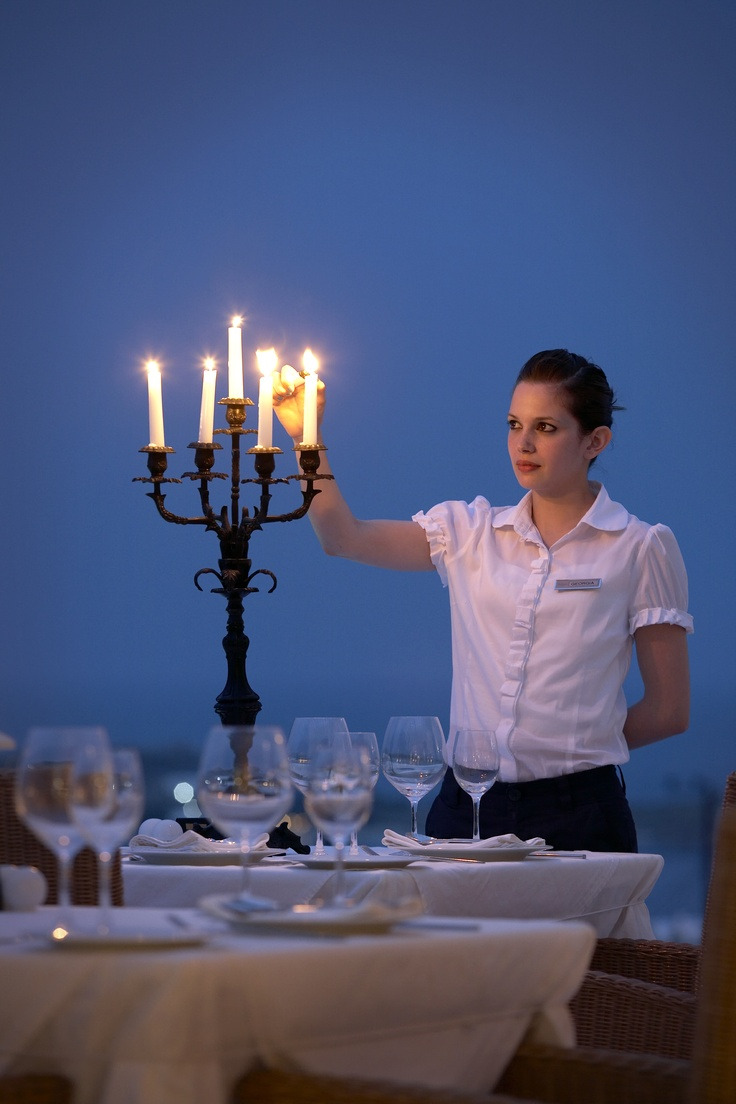 Candlelit dinner at Thymare Restaurant, Palladium Boutique Hotel, Mykonos