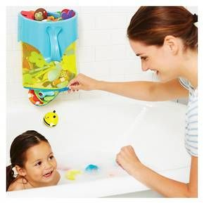 Easily scoop up bath toys—then release them with a splash!<br><br>Bath time is better with the Moby Bath Toy Scoop! Our colorful tub toy holder lets you scoop bath toys right out of the water and then hang them up to drain. Simply unzip the mesh bottom before baby's next bath to let toys splash right out into the tub.<br><br>Product Features:<br>•Easy-grab handle and wide-open top for scooping up toys<br>•Holds a large ...