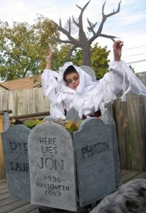Haunted cemetery Halloween wheelchair costume