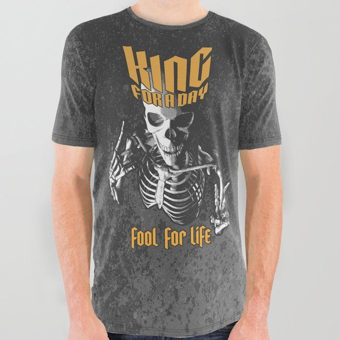 a34d4840 Buy King For A Day Skull All Over Graphic Tee by grandeduc. king, crown