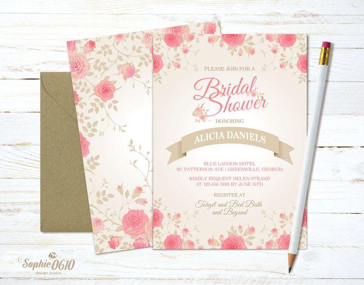 All brides have to live their principal myth!!! Printable floral vintage ivory bridal shower invitation, Digital files by Sophie0610Designs on Etsy Click on the link for more www.sophie0610designs.etsy.com