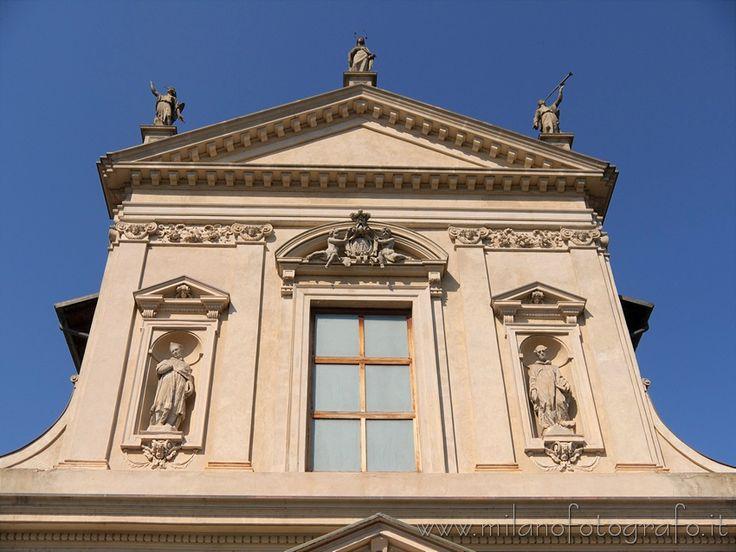 Milan (Italy): Upper half of the facade of the Church of Santa Maria Assunta Al Vigentino