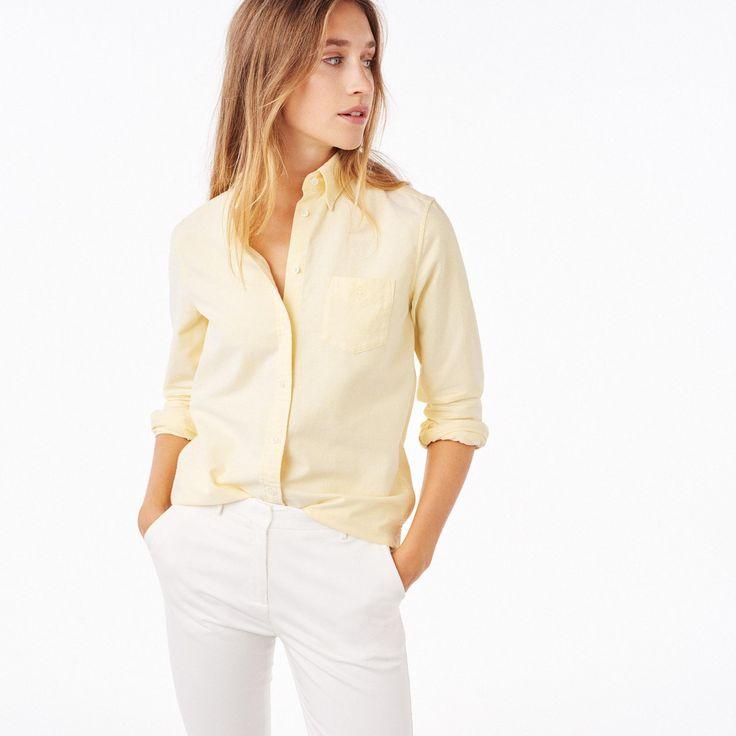 GANT Diamond G: Yellow The Perfect Oxford Shirt Women's