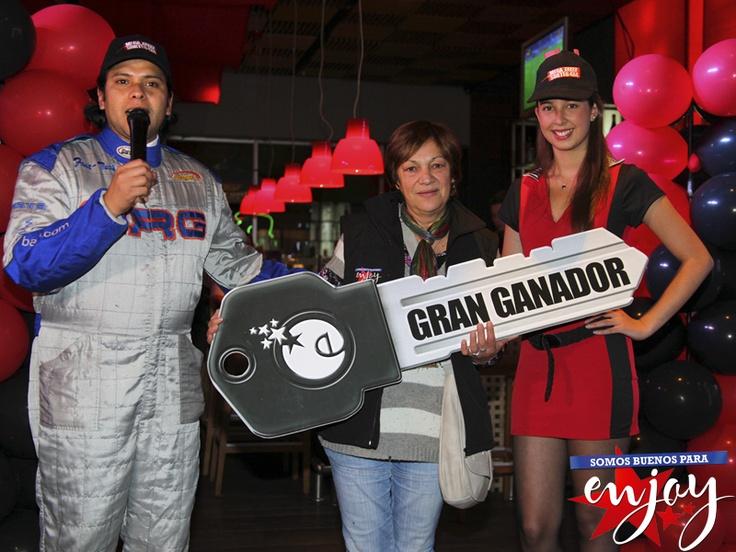 Patricia Peña es la ganadora de Mega Sorteo en Enjoy Pucón.
