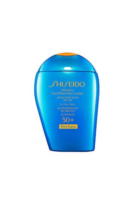 """Aside from, you know, just buying waterproof foundation, Barose actually has a pretty genius tip. """"Mix a water-resistant sunscreen, like Shiseido Sun Protection Lotion WetForce, with your foundation,"""" he says. This is brilliant for two reasons: The sunscreen dries matte, so you're shine-free all day, and the high SPF offers a great degree of UV protection...."""