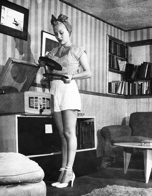 TumblrLila Leeds at home c. 1950s