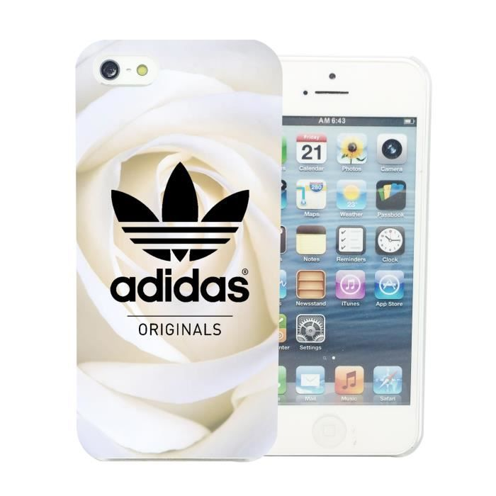 #Soldes #Accessoires #Mobile #Cdiscount ❤ #Coque iPhone 5 5S - Coque #Adidas #Originals Roses Blanche #Apple #Swag. https://plus.google.com/+Petitbuzzhightech/posts/T6N3NeFpdx5