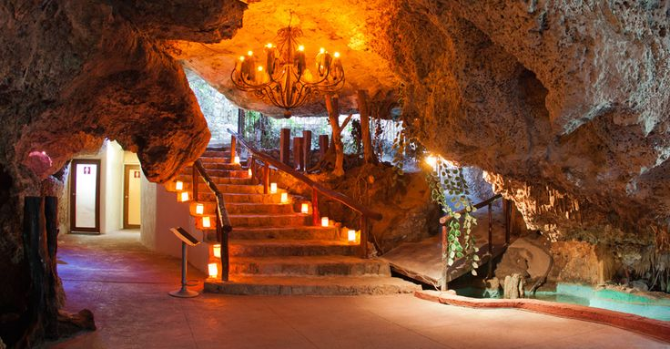 Playa Del Carmen Mexico Caves | Alux Restaurant, Bar and Lounge emerges within the depths of a ...