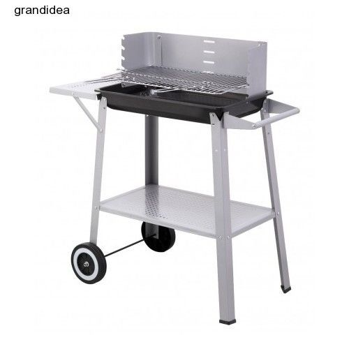 barbeque trolley wheels charcoal barbecue portable bbq grill garden patio new - Barbecue Fait Maison En Fer