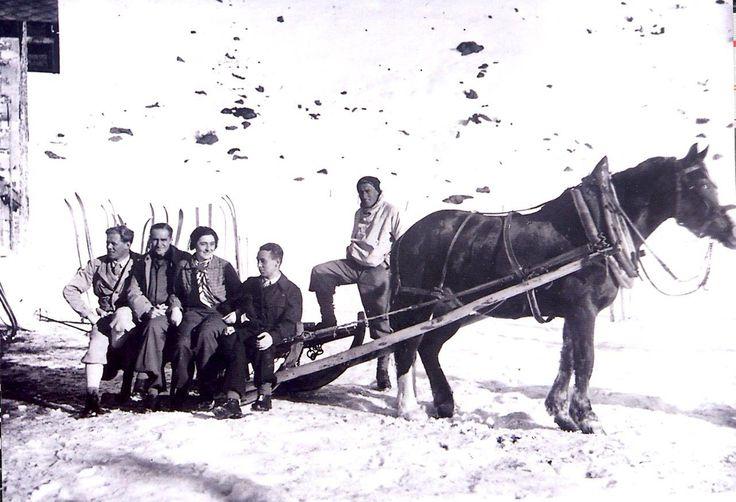 Transport zum Seekarhaus in den frühen 30er Jahren.