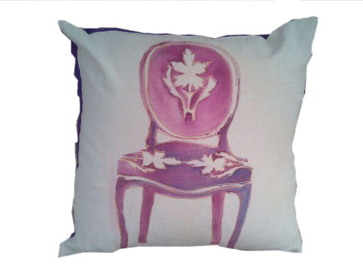 Krzesło+Barokowe+Fioletowe+recznie+malowane+50x50+w+W.pelni+Design+na+DaWanda.com