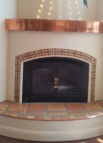 41 Best Mexican Tile Fireplace Images On Pinterest